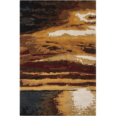 Stickles Brown Area Rug Rug Size: Rectangle 53 x 8