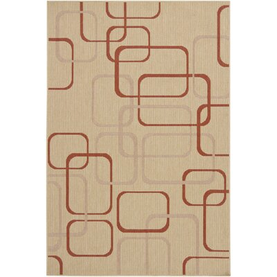 Ryan Beige Geometric Indoor/Outdoor Area Rug Rug Size: 5 x 8