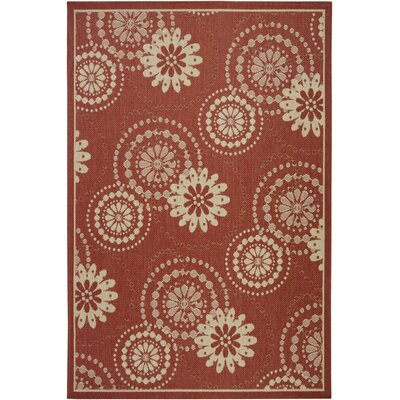 Piyush Wool Red Area Rug Rug Size: 5 x 8