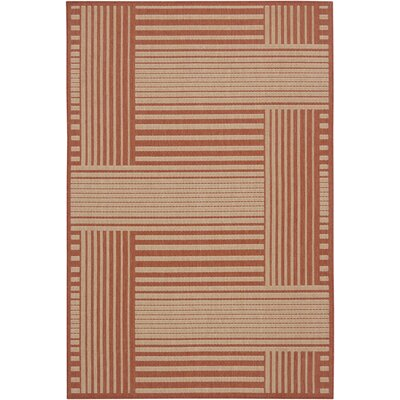 Ryan Red Geometric Area Rug Rug Size: 5 x 8