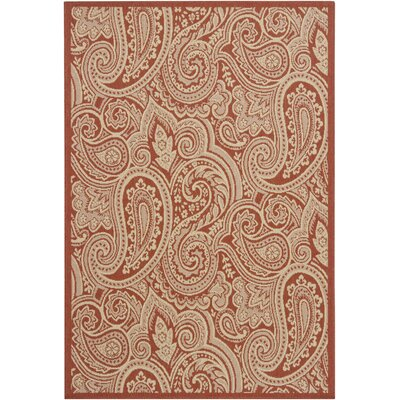 Piyush Red Area Rug Rug Size: 8 x 11