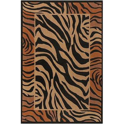 Doctor Phillips Brown/Black Zebra Print Area Rug Rug Size: Square 79