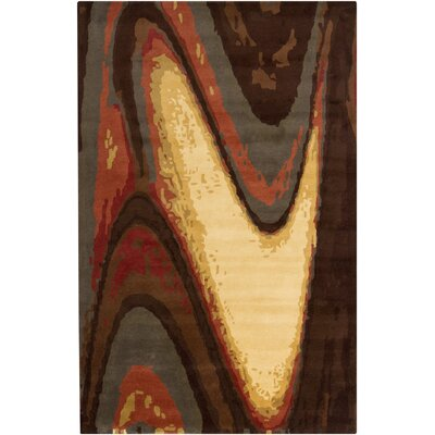 Stickles Hand Woven Brown Area Rug Rug Size: 8' x 11'