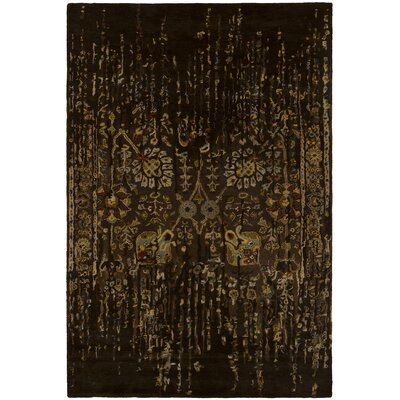 Kate Wool Brown Area Rug Rug Size: 79 x 106