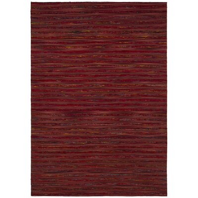 Aletta Red Area Rug Rug Size: 79 x 106