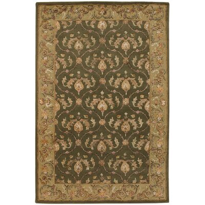 Bliss Green Area Rug Rug Size: 79 x 106