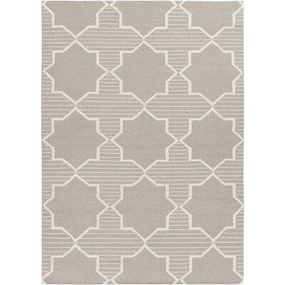 Bayonne Grey/White Geometric Rug Rug Size: 7 x 10