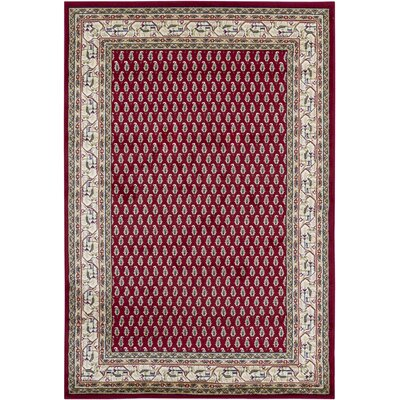 Collingdale Modern Red Area Rug Rug Size: 53 x 79