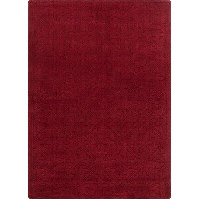 Jamison Burgundy Area Rug Rug Size: 7 x 10