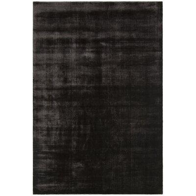 Steffen BlackDark Grey Hand Woven Area Rug Rug Size: 5 x 76