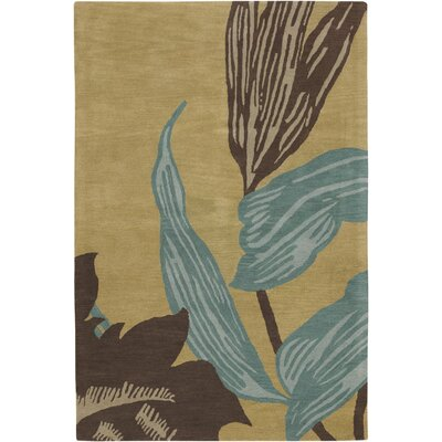 Steib Beige Area Rug Rug Size: 79 x 106