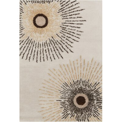 Phair Abstract Beige Area Rug Rug Size: Rectangle 5 x 76