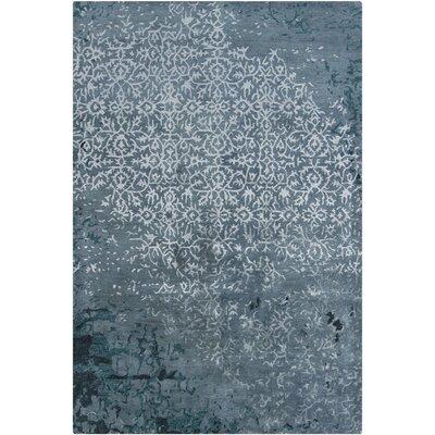 Powell Handmade Blue Area Rug Rug Size: 79 x 106