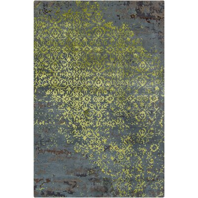 Holt Grey/Green Abstract Area Rug Rug Size: 5 x 76