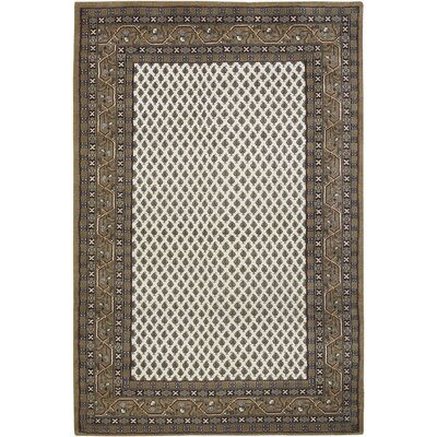 INT White/Brown Area Rug Rug Size: 79 x 106