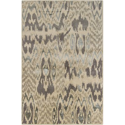 Tom Tan Abstract Area Rug Rug Size: 5 x 76