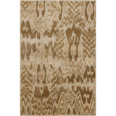 Forbis Brown/Tan Abstract Area Rug Rug Size: 79 x 106