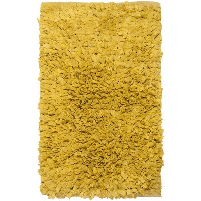 Paper Shag Yellow Area Rug Rug Size: 18 x 26