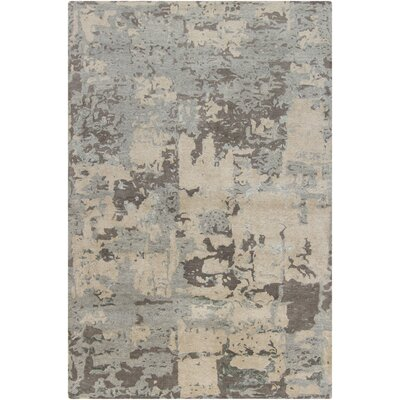 Powell White Abstract Area Rug Rug Size: 79 x 106