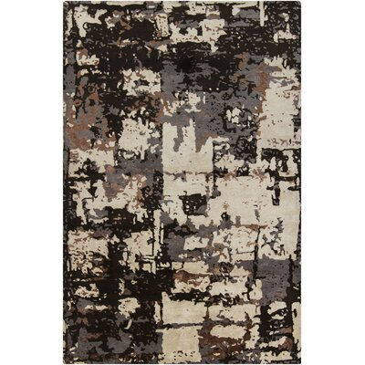 Powell Brown & Black Abstract Area Rug Rug Size: 7'9