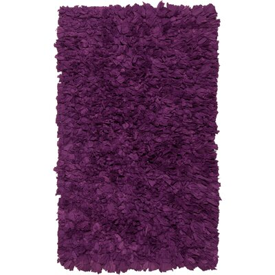 Benitez Wool Purple Area Rug Rug Size: 18 x 26