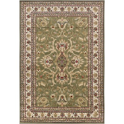 Taj Green/Tan Area Rug Rug Size: 4 x 6