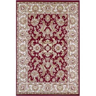 Beardall Red Area Rug Rug Size: 53 x 79