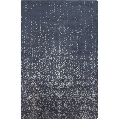 Holt Blue Abstract Area Rug Size: 7'9