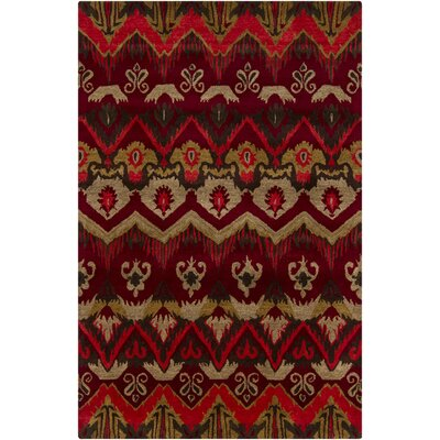 Tom Red Abstract Area Rug Rug Size: 9 x 13