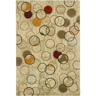 Paislee Tan Abstract Area Rug Rug Size: 79 x 106