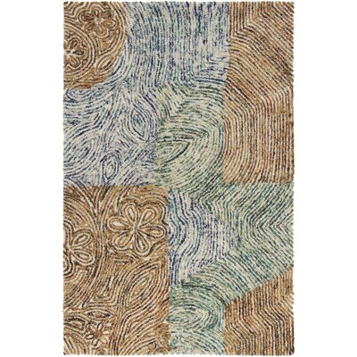 Katherin Wool Abstract Area Rug Rug Size: 5 x 76