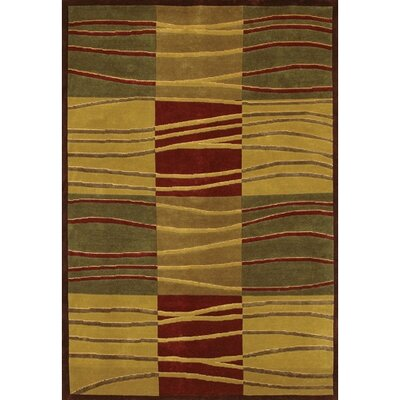 Caines Beige/Green Area Rug Rug Size: Rectangle 79 x 106