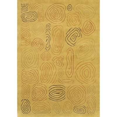 Caines Hand Woven Gold/Yellow Area Rug Rug Size: Rectangle 79 x 106
