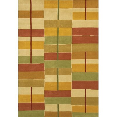 Caines Gold/Red Area Rug Rug Size: Rectangle 79 x 106