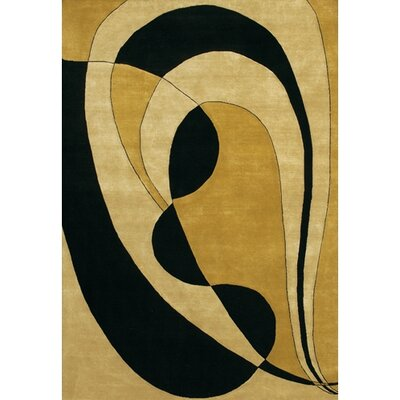 Caines Wool Gold/Yellow Area Rug Rug Size: Rectangle 5 x 76