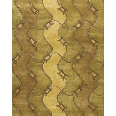 Caines Brown/Tan Geometric Area Rug Rug Size: Round 79