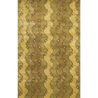 Caines Brown/Tan Geometric Area Rug Rug Size: Rectangle 79 x 106