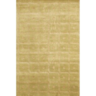Caines Gold/Yellow Geometric Area Rug Rug Size: Round 79