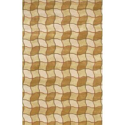 Caines Contemporary Brown/Tan Area Rug Rug Size: Rectangle 5 x 76