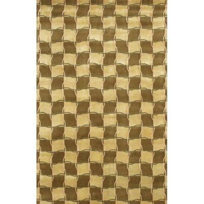 Caines Contemporary Wool Brown/Tan Area Rug Rug Size: Rectangle 79 x 106