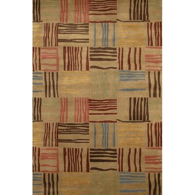 Caines Beige/Red Area Rug Rug Size: Rectangle 2 x 3