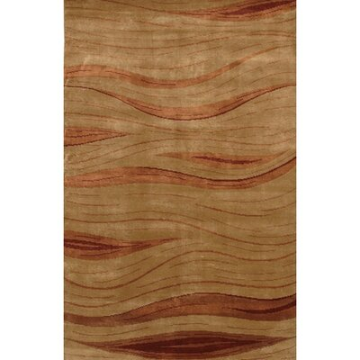 Aadi Brown/Tan Area Rug Rug Size: 2 x 3