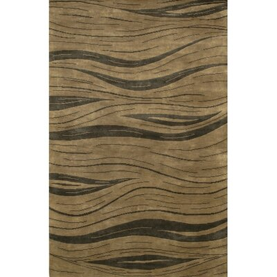 Caines Contemporary Hand Woven Brown/Tan Area Rug Rug Size: Rectangle 7'9