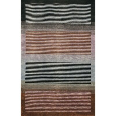 Aadi Grey/Brown Area Rug Rug Size: 79 x 106