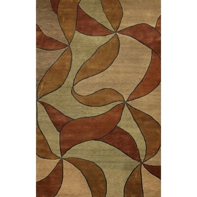 Caines Red/Tan Area Rug Rug Size: Rectangle 2 x 3