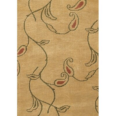 Caines Brown/Tan Floral and Plants Area Rug Rug Size: Round 79