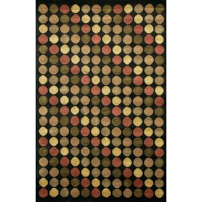 Aadi Black/Red Area Rug Rug Size: 79 x 106