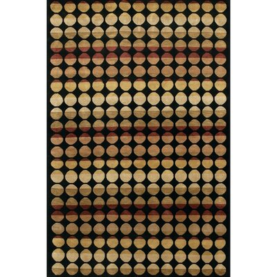 Aadi Black/Tan Area Rug Rug Size: 79 x 106