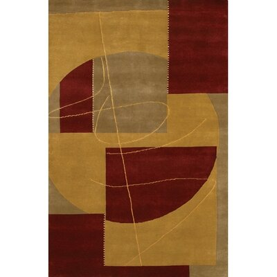 Caines Contemporary Gold/Yellow Area Rug Rug Size: Round 79