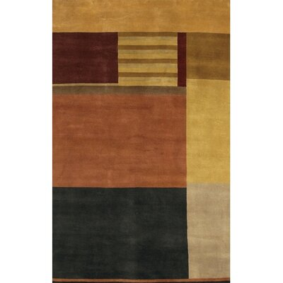 Aadi Black/Brown Area Rug Rug Size: 79 x 106